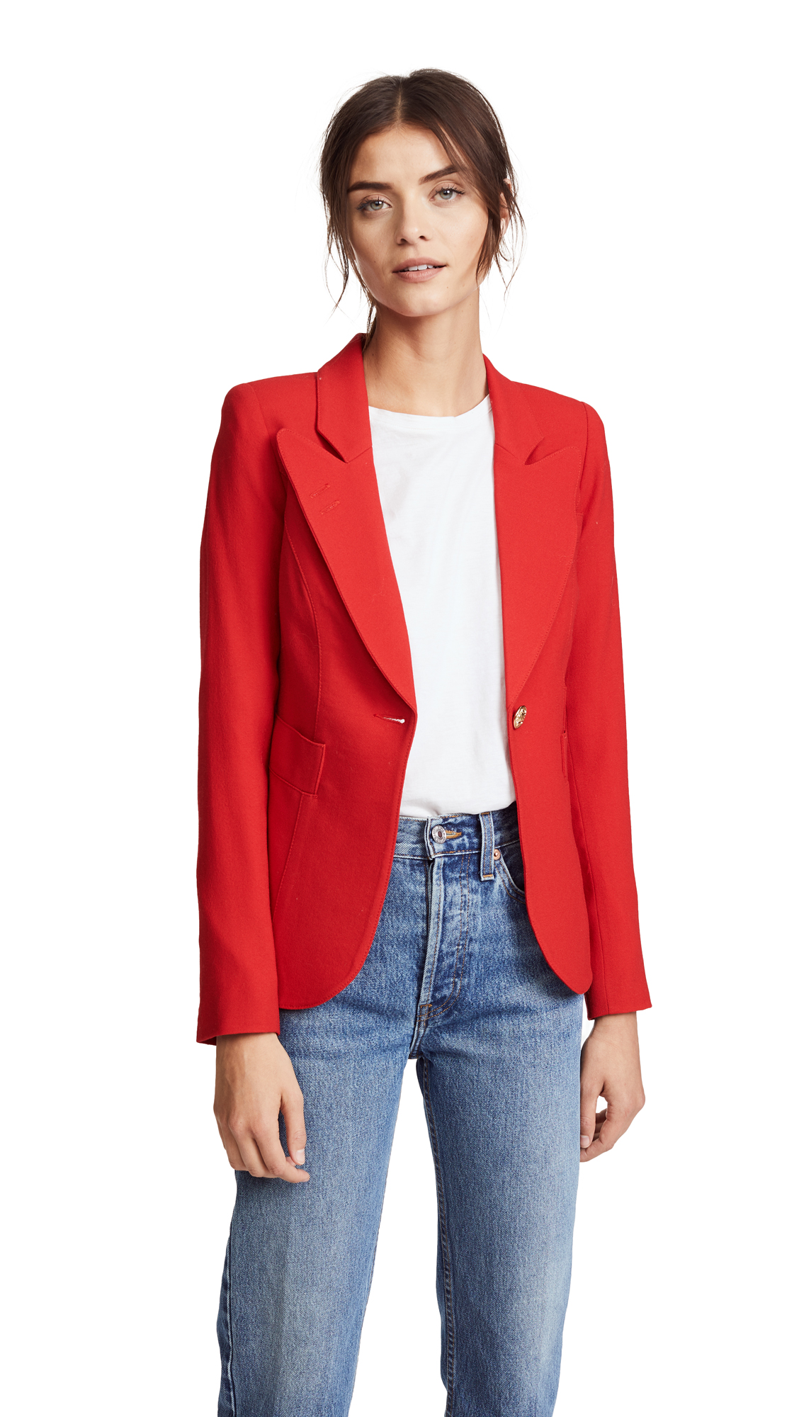 SMYTHE Duchess Blazer - Red