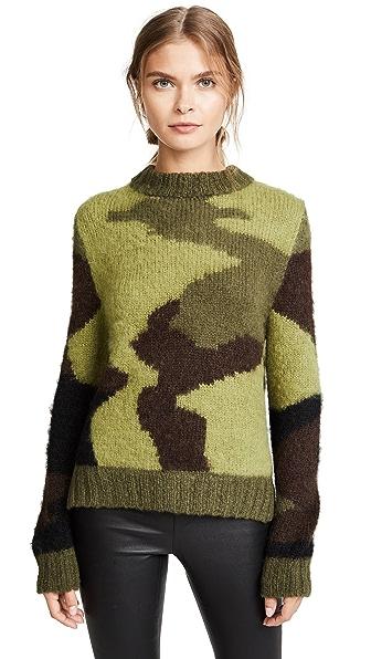 SMYTHE Hand Knit Camo Intarsia Sweater at Shopbop