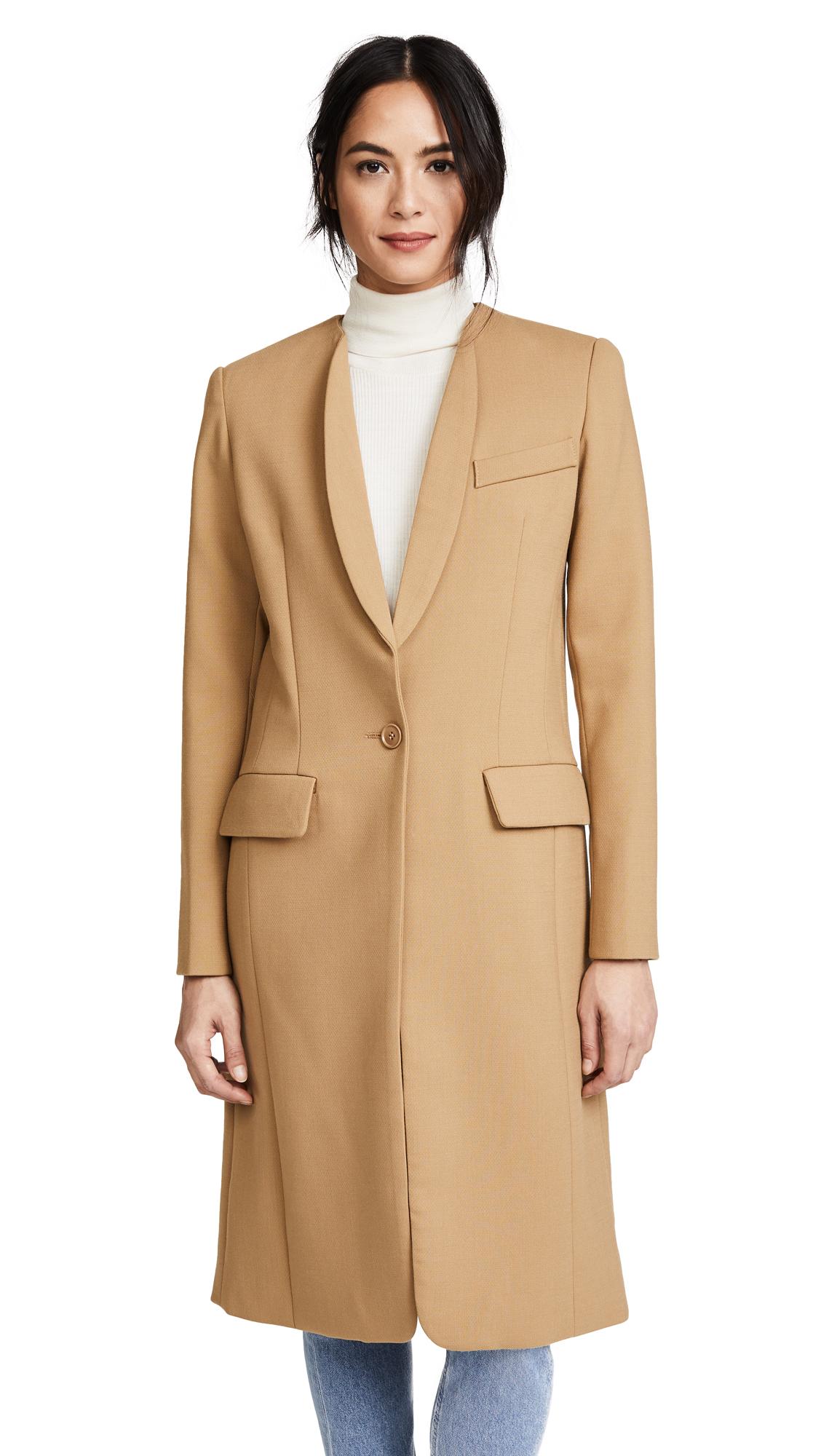 SMYTHE Skinny Lapel Coat - Camel