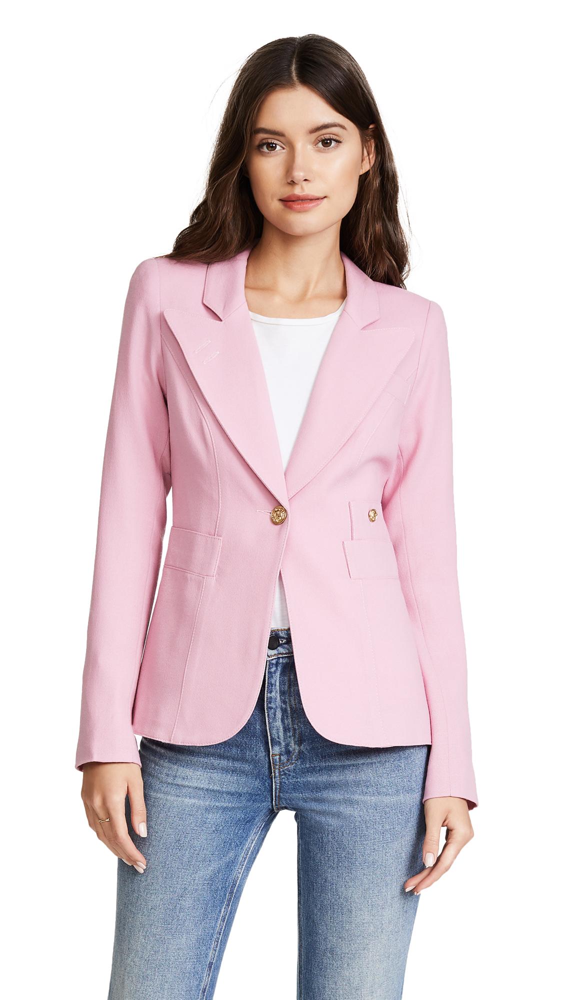 SMYTHE Duchess Blazer - Rethink Pink