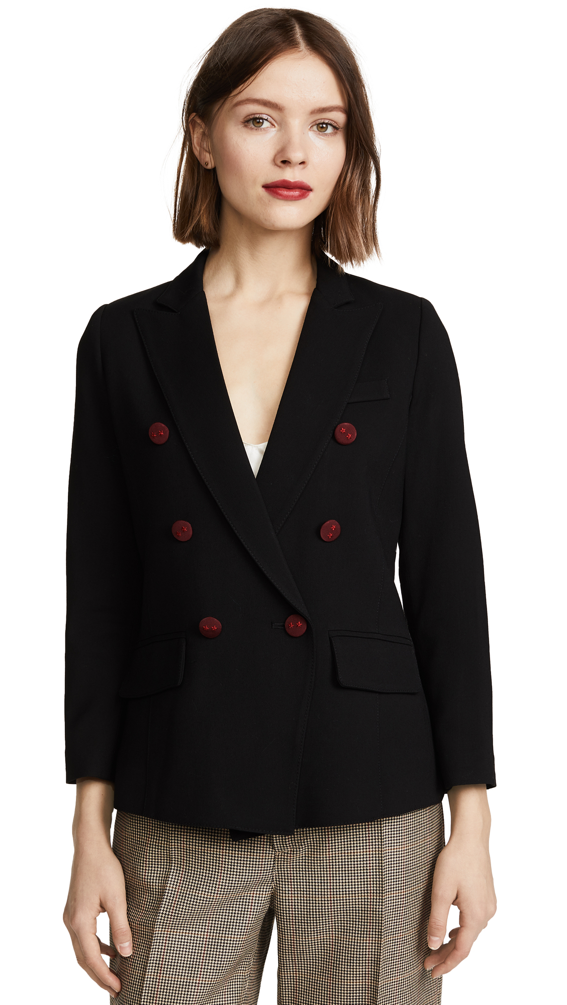 SMYTHE Mini Double Breasted Blazer - Black
