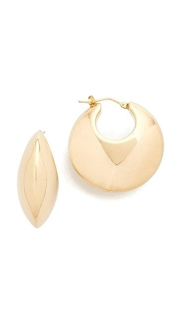 Soave Oro Bombe Round Hoop Earrings