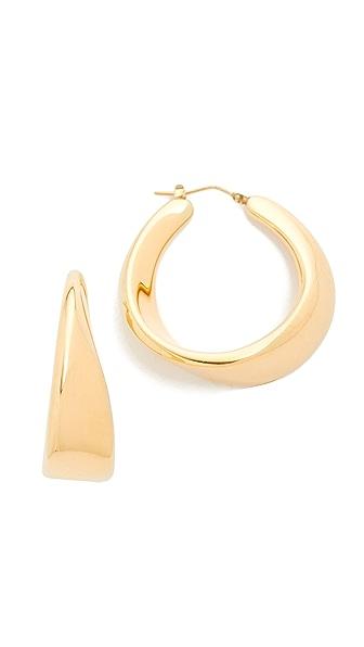 Soave Oro Sculptured Twist Hoop Earrings