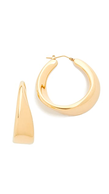 Soave Oro Sculptured Twist Hoop Earrings