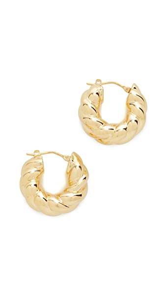 Soave Oro Graduated Bold Twist Earrings - Gold