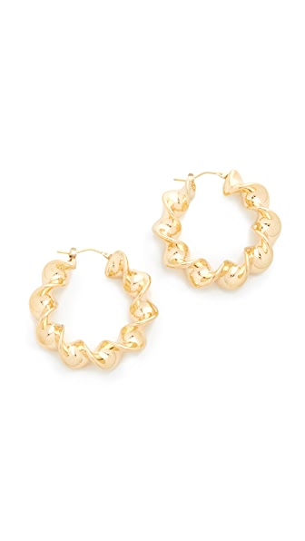 Soave Oro Twisted Hoop Earrings