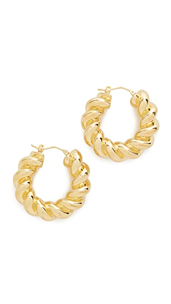 Soave Oro Torchon Hoop Earrings - Gold
