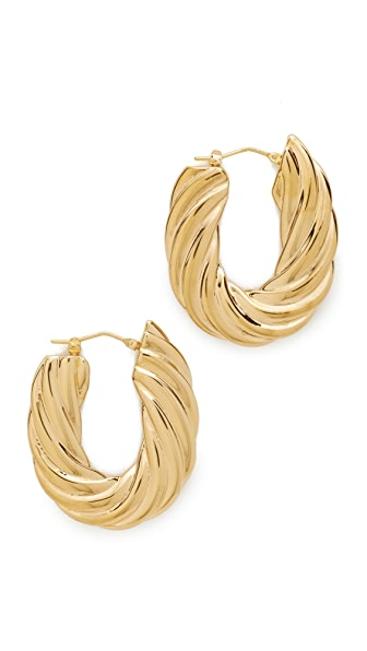 Soave Oro Flat Twisted Earrings