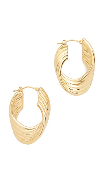 Soave Oro Polished Twisted Hoop Earrings - Gold