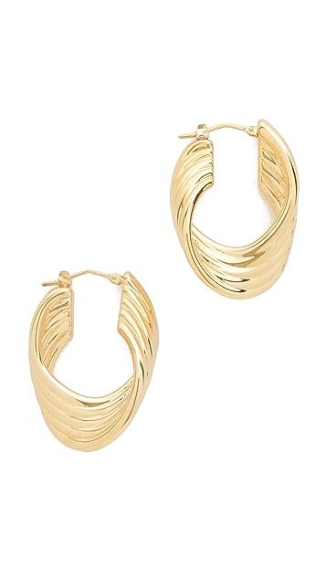 Soave Oro Polished Twisted Hoop Earrings