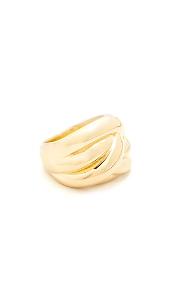 Soave Oro Knot Ring In Gold