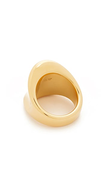 Soave Oro Concave Polish Ring