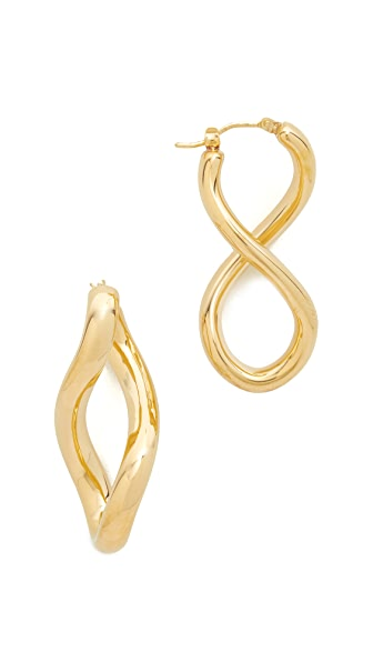 Soave Oro Shiny Ear Snap Bar Earrings
