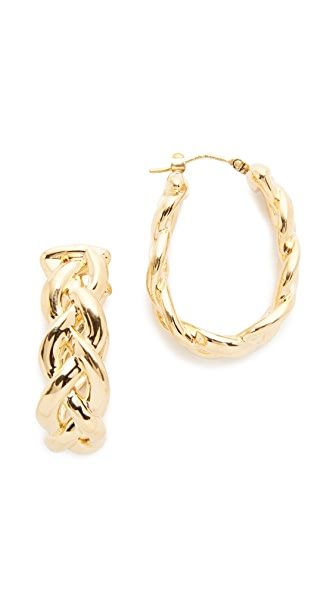 Soave Oro Shiny Braided Hoop Earrings