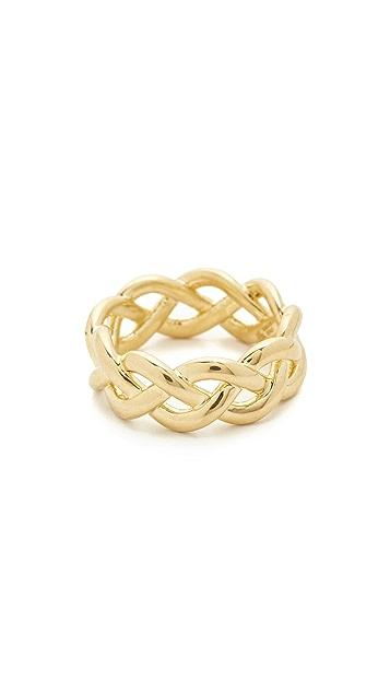 Soave Oro Shiny Braided Ring