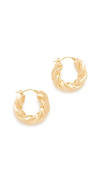 Soave Oro Kaniesha Hoops - Yellow Gold