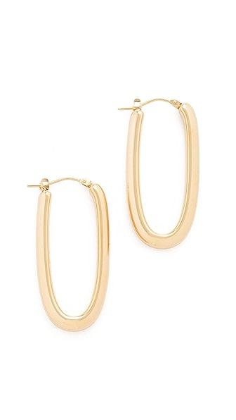 Soave Oro Mariana Hoop Earrings In Yellow Gold