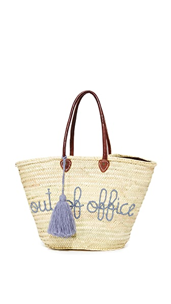 Soeur Du Maroc Musings Out of Office Tote - Smoke