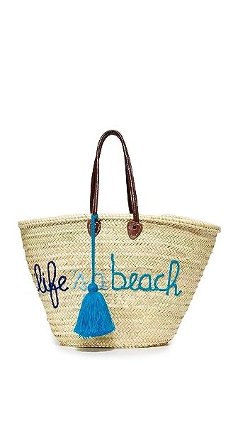 Soeur Du Maroc Life s a Beach Tote - Tri Blue