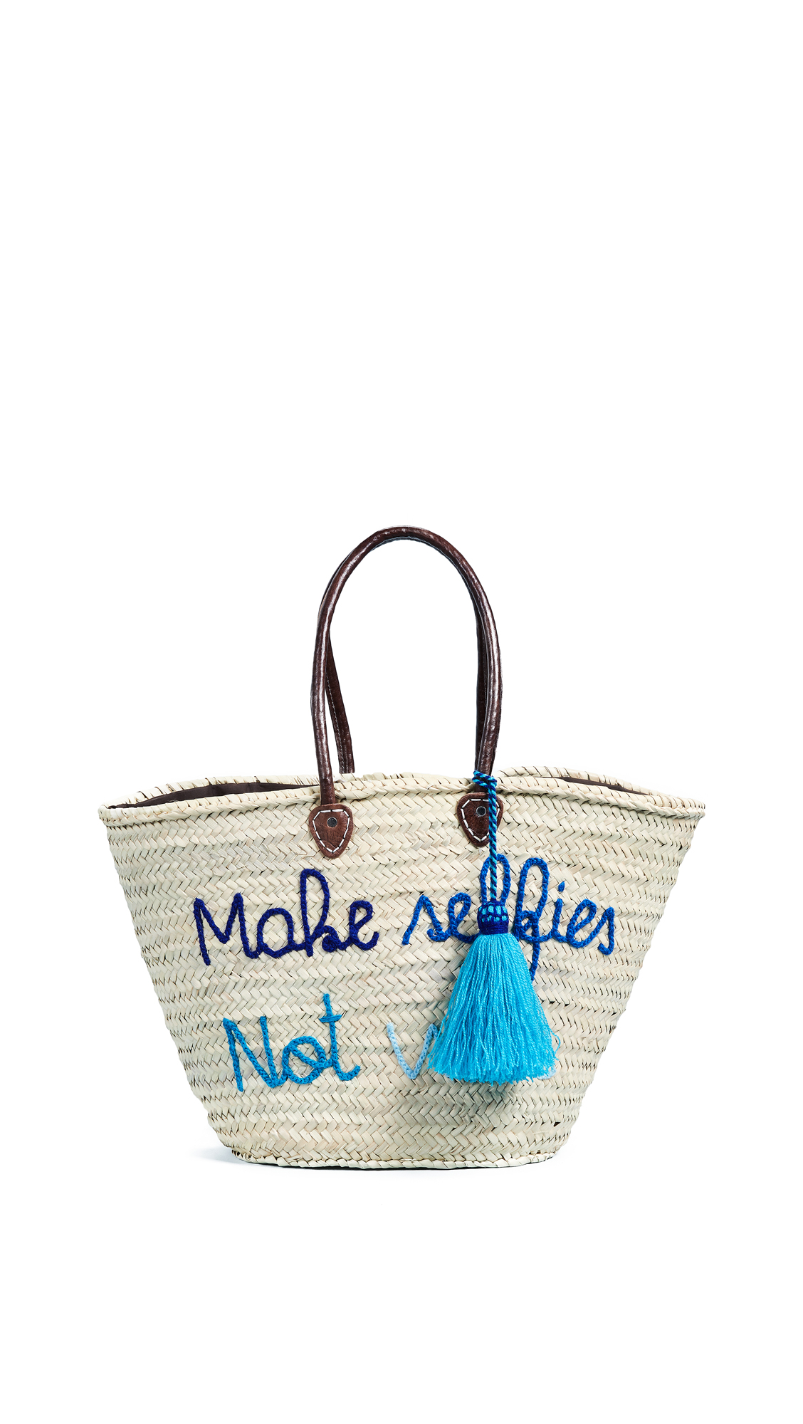 Soeur Du Maroc Make Selfies Not War Straw Tote