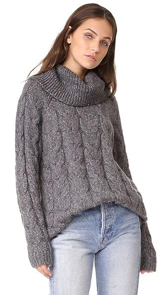 Soft Joie Tamerlaine Sweater In Dark Heather Grey