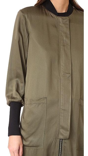 Soia & Kyo Bia Long Bomber Jacket