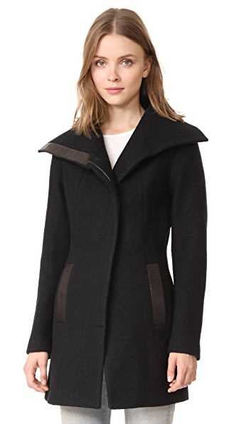Soia & Kyo Jemma Car Coat In Black