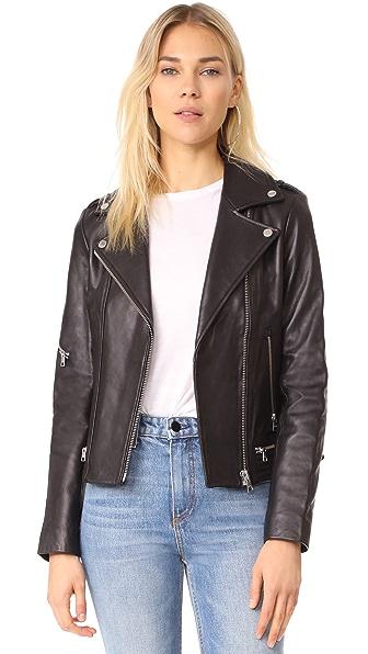 Soia & Kyo Jasmina Moto Leather Jacket