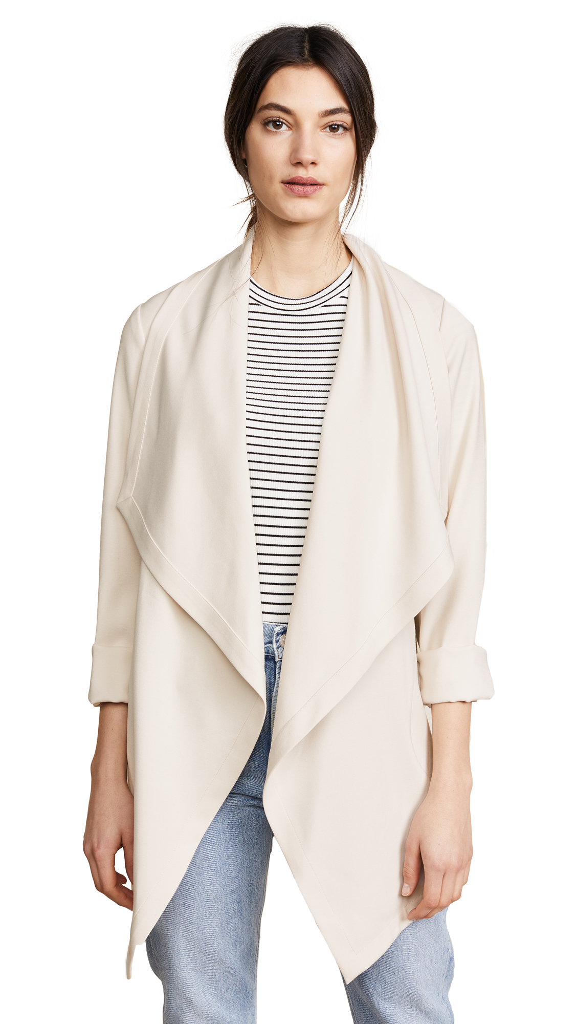 Soia & Kyo Shannyn Draped Coat In Shell