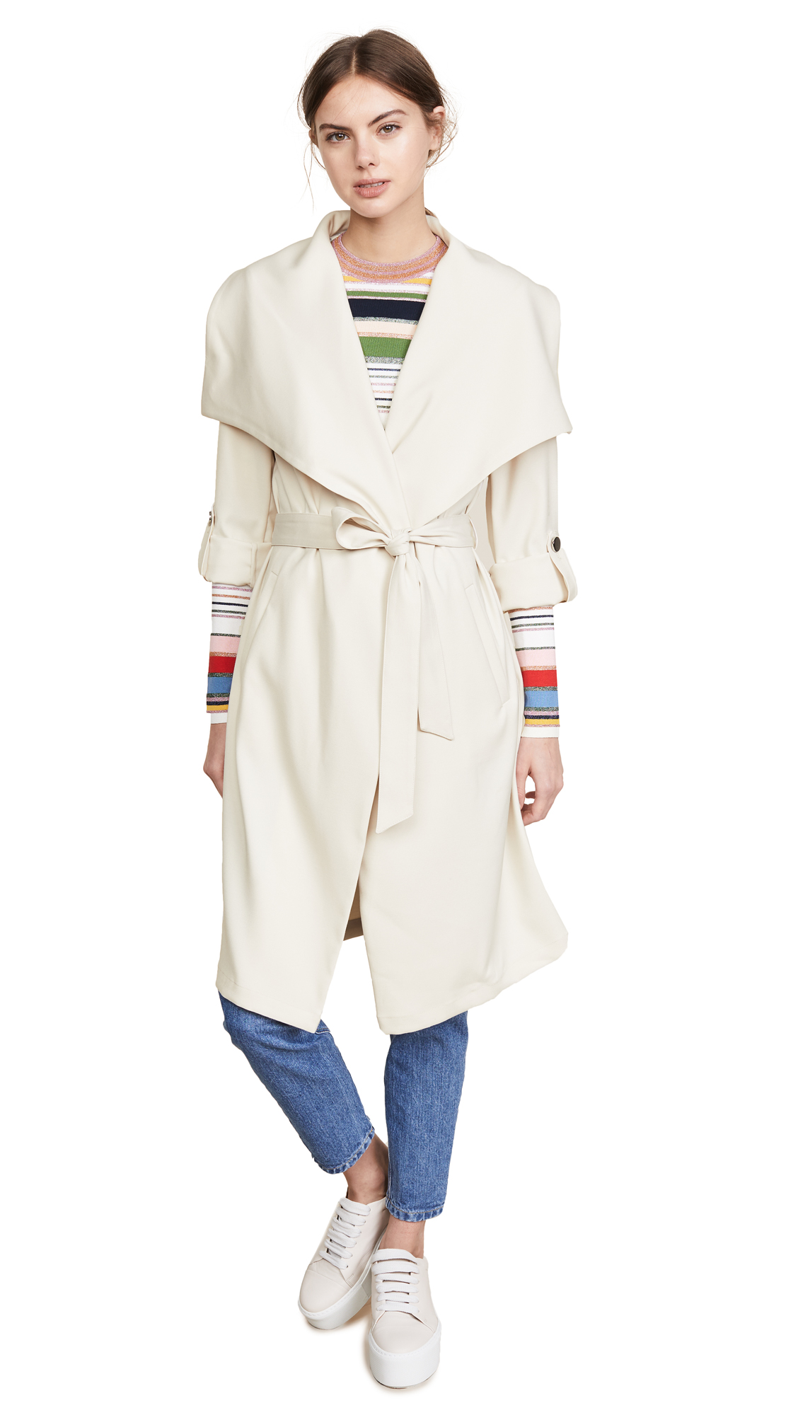 SOIA & KYO ORNELLA DRAPED COAT