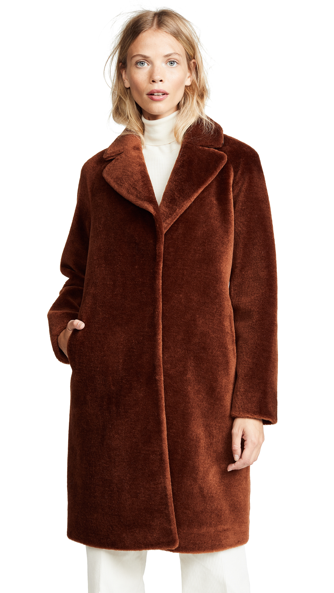 Soia & Kyo Rubina Wool Coat In Autumn