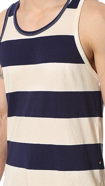 Sol Angeles Rugby Stripe Split Tank