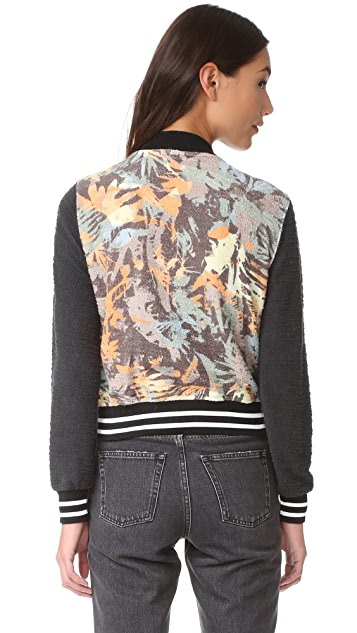 Sol Angeles Camo Floral Bomber
