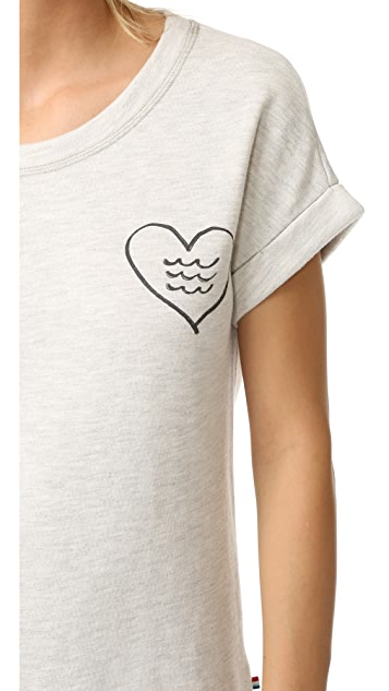 Sol Angeles Corazon Short Sleeve Pullover