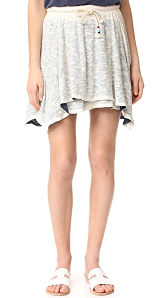 Sol Angeles Playa Spray Layered Skirt - Indigo