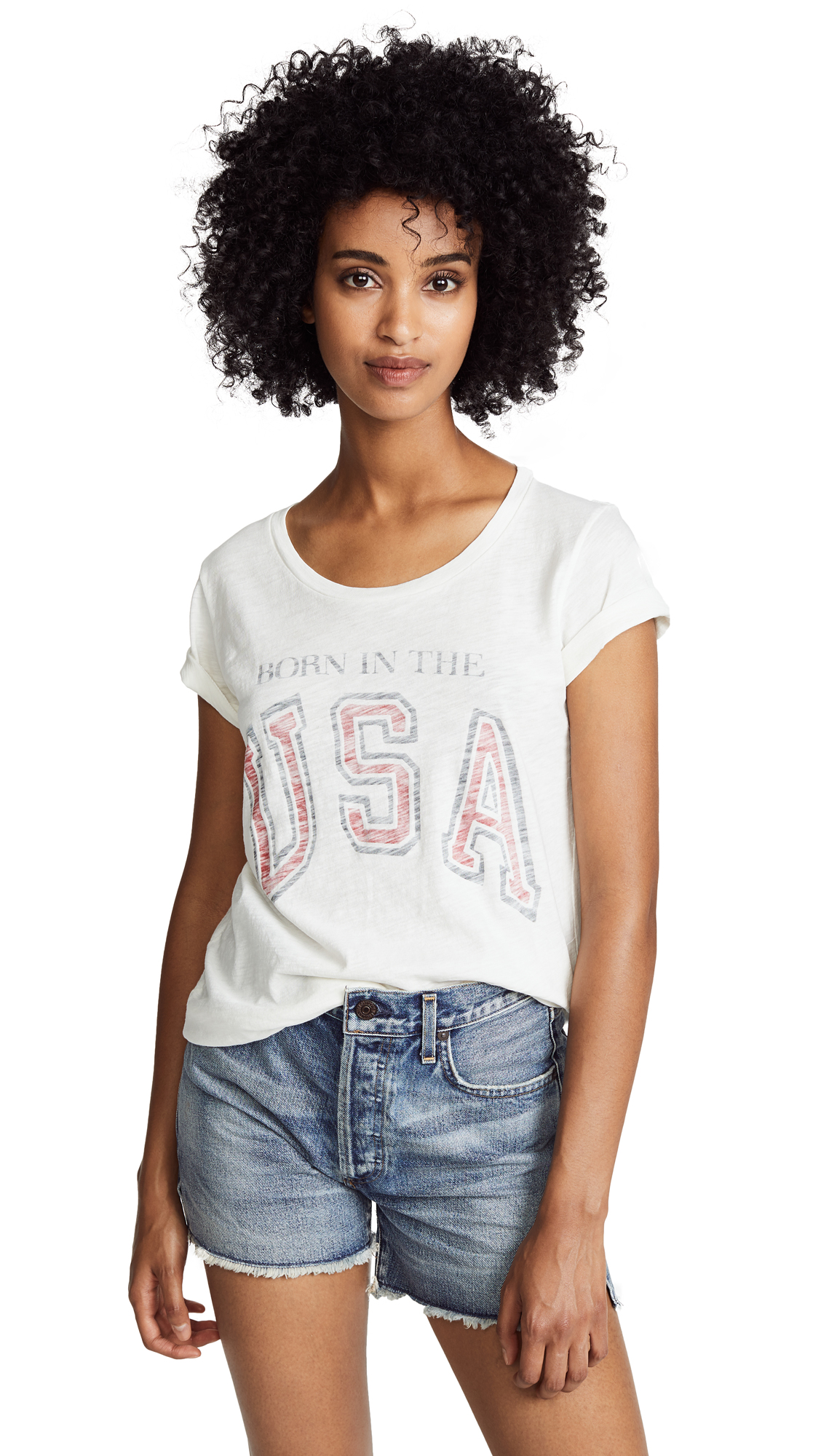 SOL ANGELES BORN IN THE USA TEE