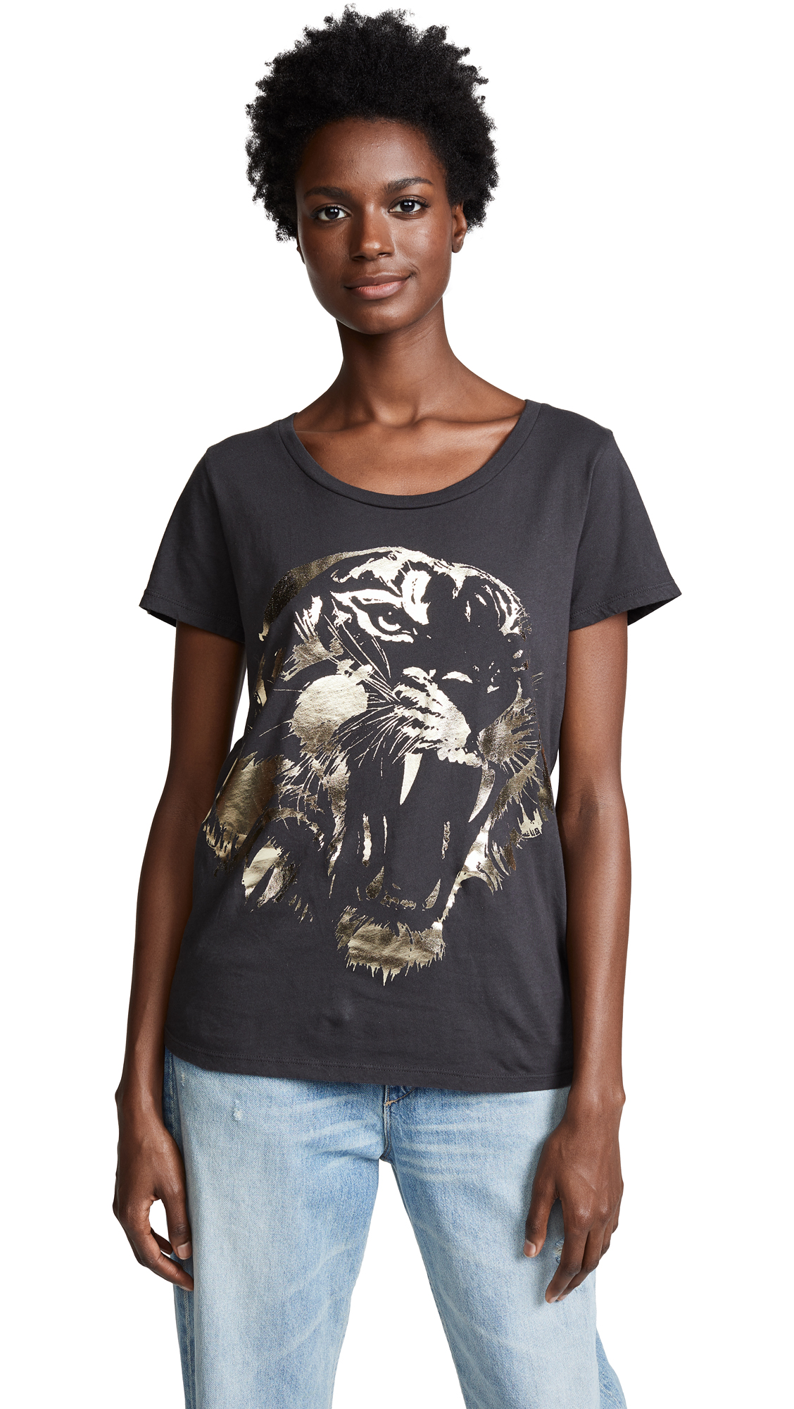 Sol Angeles Tiger Crew Tee In Very Black