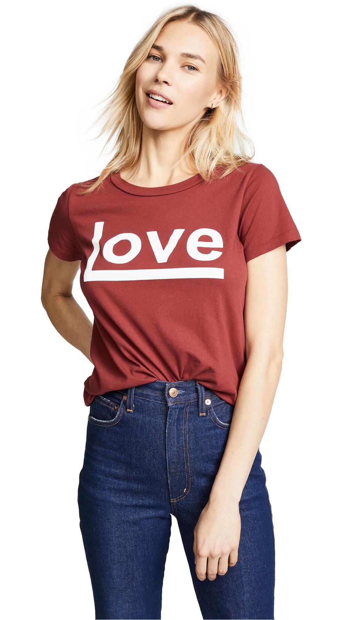 Sol Angeles Love Crew Tee - Rouge