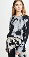 Sol Angeles Marble Cropped Pullover