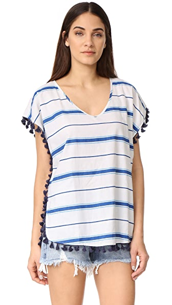 Soleil Striped Cover Up with Fringe