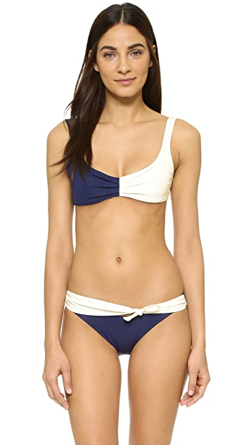 Solid & Striped Poppy Delevingne Tie Bikini Bottoms