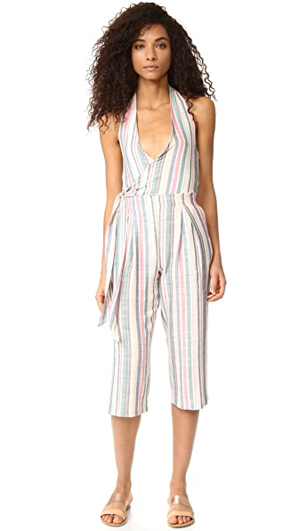 Solid & Striped The Camille Jumpsuit - Multi Stripe