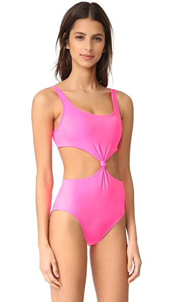 Solid & Striped The Bella One Piece In Hot Pink