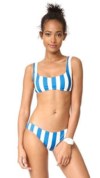 Solid & Striped The Elle Bikini Top - Sea Stripe