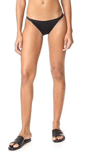 Solid & Striped The Molly Bikini Bottoms In Black