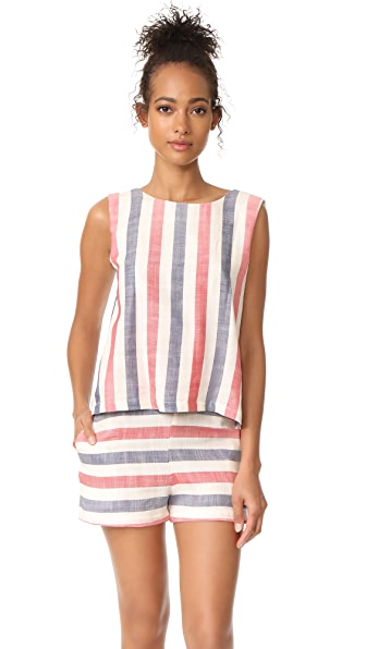 Solid & Striped The Michy Romper - Liberty Stripe