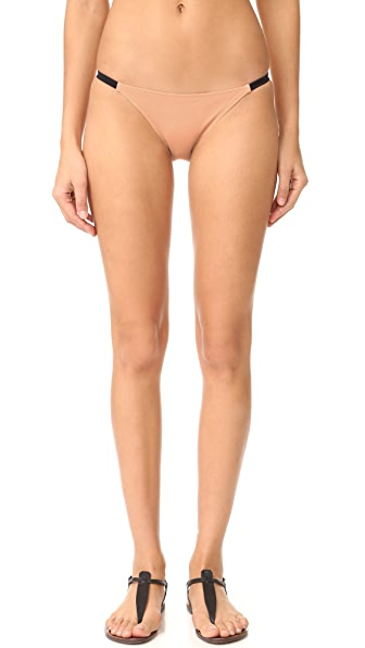 Solid & Striped The Morgan Bikini Bottoms - Nude/Black