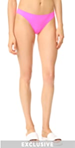 Olivia Bikini Bottoms Solid  Striped