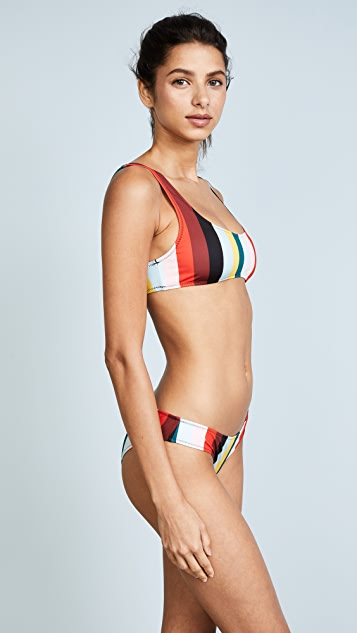 Solid & Striped The Elle Paradise Stripe Bikini Top
