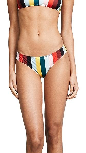 Solid & Striped The Elle Paradise Stripe Bikini Bottoms In Paradise Stripe